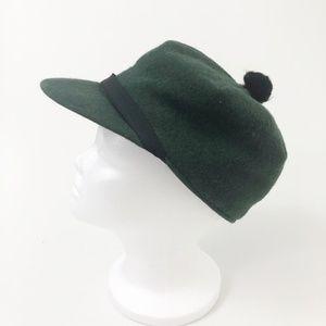Vintage Crown Cap 1987 Green Wool Stockman Hat